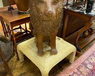 Large plaster lion