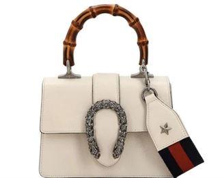 Gucci  Mini Dionysus Leather Top Handle Satchel
