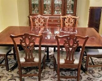 Universal Furniture China Cabinet and Dining room Table