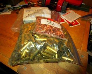 Brass casings.