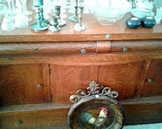 Antique Buffet- sideboard walnut