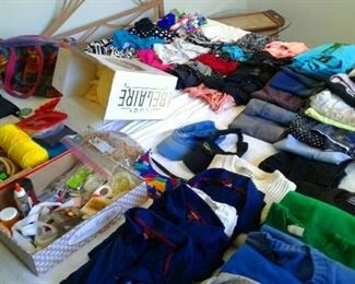 Clothes, shoes and accessories...hug closet full too
