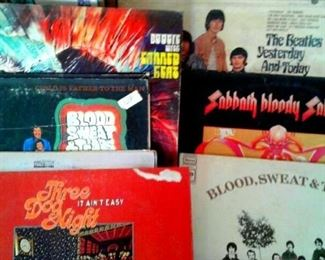 60 s LP albums   Canned Heat, Black Sabath, Blood Sweat & Tears, Three Dog Night, Mountain, 5 th Dimension and more--