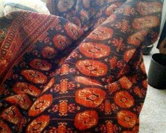 Bokara veg dye oriental rug  8 x 5