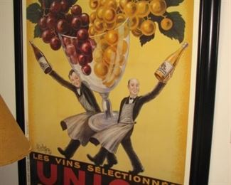 Large French advertising poster - wine