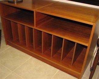 MCM record album cabinet