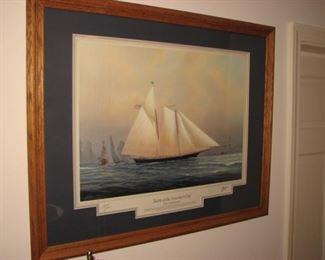 Yacht racing art