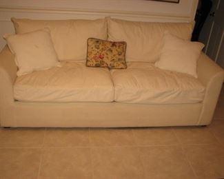 Marshall Fields white sofa