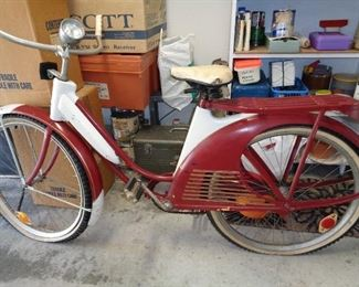 vintage Elgin  bike. Not priced. this will be a bid item until the sale is over. Call 501 463 1522 to leave a bid