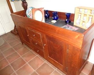hand made black walnut dry sink