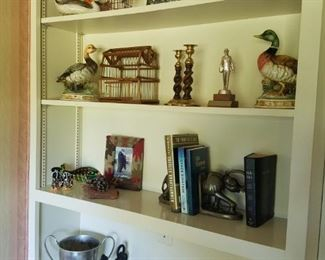 Interesting and eclectic selection of small antiques and collectibles.