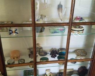 Partial selection of snuff and trinket boxes