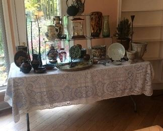 Unique hand made pieces of glassware & pottery from international travels
