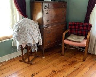 Walnut 1940s dresser
