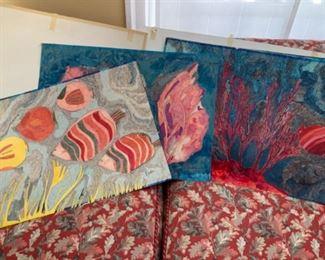 V. Geraldine aquatic watercolors/paper