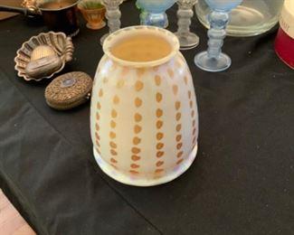 Quezel art glass shade
