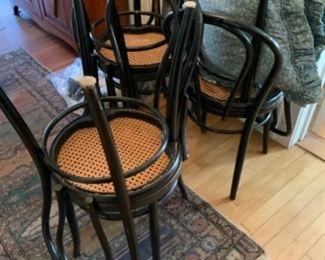 Bentwood cafe chairs. Czechoslovakia