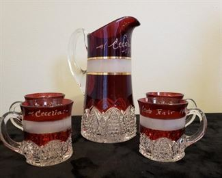 1909 State Fair Souvenir Pitcher & Cups https://ctbids.com/#!/description/share/271043