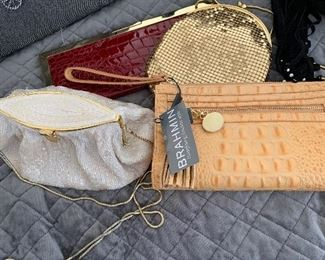 Designer handbags and clothing