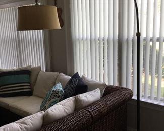 """Floor Lamp 43""""overhang, 85""""H"""