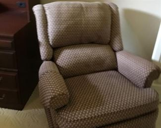 Upholstered glider/recliner