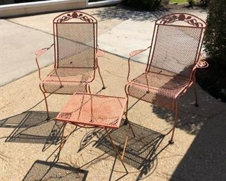 3 piece metal outdoor seating