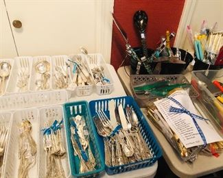 Sterling flatware with many unique pieces