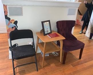 two chairs and side table