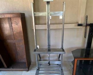 Restoration Hardware Artist Easel TV Stand (adjustable up/down/tilt)