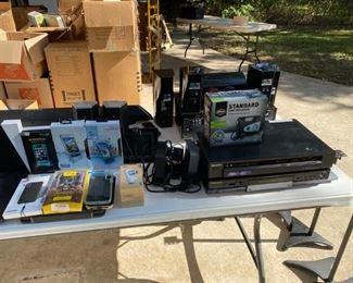 Electronics - DVD recorder/player, phone cases, Samsung phone/camera