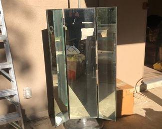 Restoration Hardware Triple Mirror on Stand