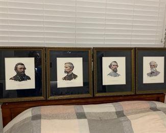 4x Civil War Generals by Don Stivers (numbered print set)