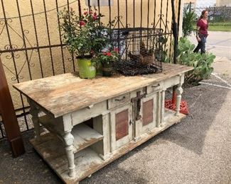 Rustic farmhouse table - solid wood