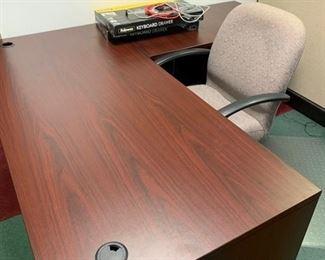 Desk & Return with file drawer