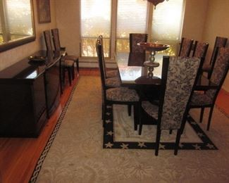 Quintessential Home Furnishings Giorgio Collection Dining Room Italy Brazilian Snakewood Dining Room Table Suite