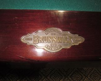 Brunswick Pool Table and Extras