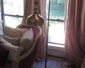 Chaise Lounge ~ Window Treatments ~  Ornate Lighting ~ Shelving and more!