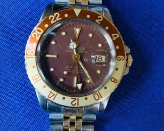 Men's Rolex steel and 18k Master II Root Beer GMX