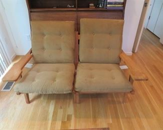 Getama Gedsted House Hans J. Wegner design oak paddle armchairs