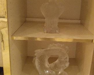 Very large Lalique sculptures