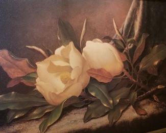 Magnolia print framed