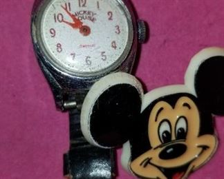 Mickey Mouse watch and Pin