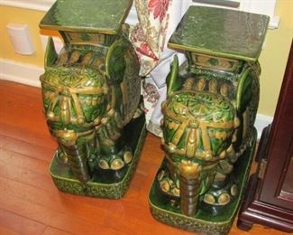Large Elephant Plant Stands from Taiwan