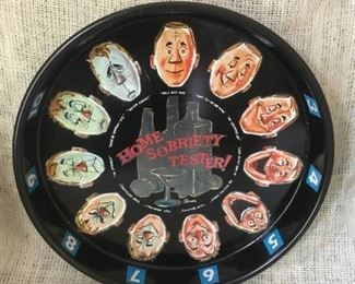 """13"""" Vintage Metal Tray--Home Sobriety Tester"""