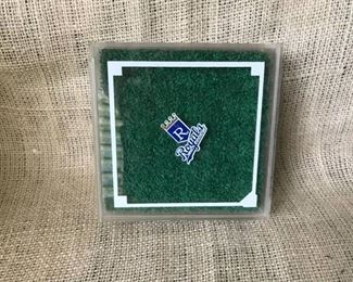 A little piece of history for the Kansas City Royals/Kauffman Stadium piece of used turf in case