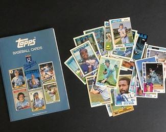 TOPPS Royals Baseball Cards