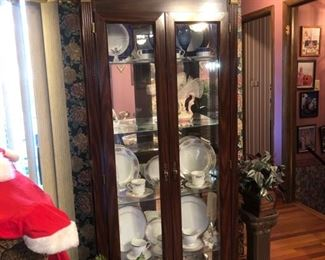 Lighted curio cabinet (most items shown in cabinet were sold in Phase 1)