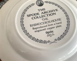 Spode collector plates