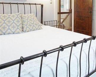 queen metal bed frame & two nightstands