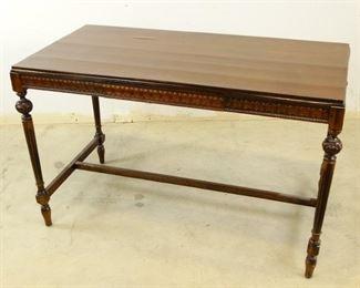 Antique, Queen Ann Dark Wooden Writing Desk